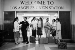 Welcome to Los Angeles, Union Station - this photo symbolizes the hub in how American Indians came to the city.